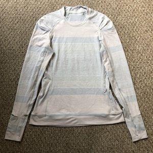 LULULEMON Think Fast Long Sleeve in Pastel Stripes